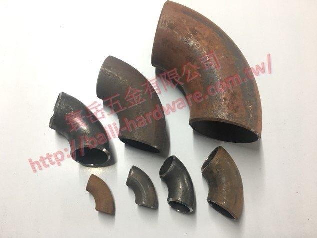 """黑鐵 90度 2 1/2"""" 外徑76.3mm OT焊彎頭 接頭 焊接鐵彎頭"""