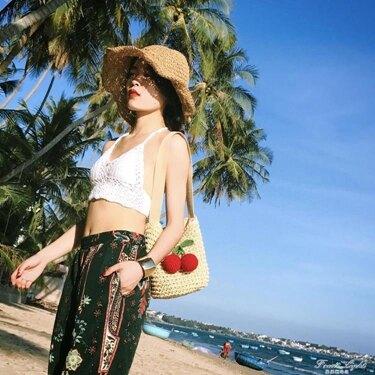 草編包小辣椒編織包草包沙灘包單肩包海邊旅游度假女包包    全館八八折