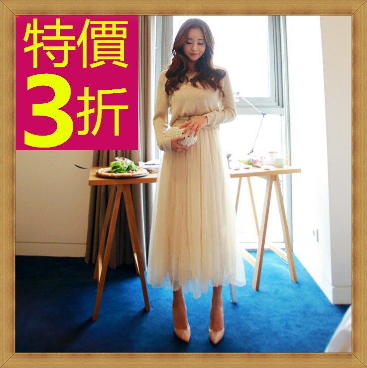 ★長裙 女裙子-修身甜美氣質流行女裝53s45【韓國進口】【米蘭精品】