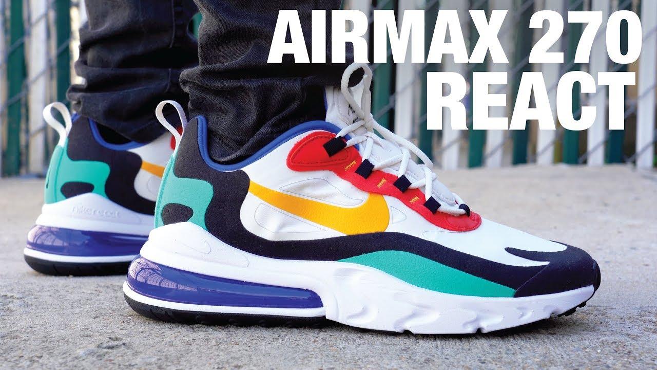 KUMO SHOES-現貨  Nike AIR MAX 270 REACT 1907 休閒鞋 AO4971-002