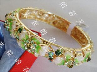 景泰藍手鐲SKC1043新娘飾品女孩生日禮品情人節禮物