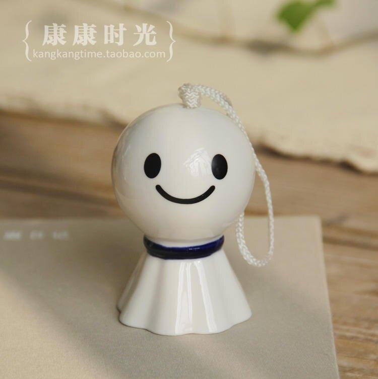 {} 晴天娃娃陶瓷風鈴 祈求晴天和平安 日式裝飾掛件zakka1入