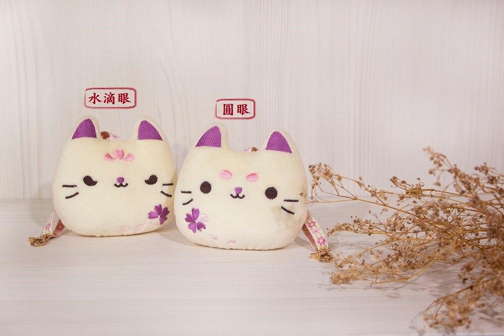 刺繡櫻花貓造型吊飾(材料包)