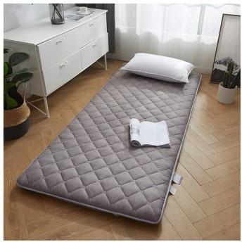 日本の伝統的な畳布団マットレス、厚く通気性のあるミルクベルベット畳マットレス折りたたみ式フロアマット、リビングルームのシングルダブル床睡眠パッド昼寝,3,90x190cm(35x75)