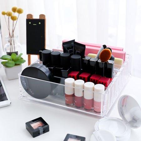 壓克力8格收納盒 可直立 公仔展示 公仔收納 透明收納盒 置物盒 口紅 壓克力 化妝品 收納 居家【B063624】
