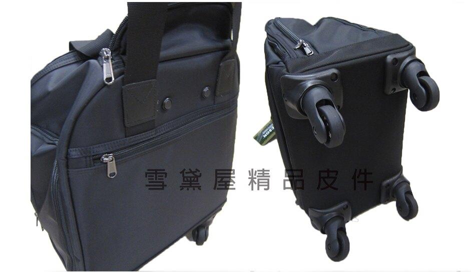~雪黛屋~YESON 拉桿袋旅行袋可登機360度旋轉輪同14吋容量高單數防水尼龍布台灣製造精品輕量全齡Y98813(小)