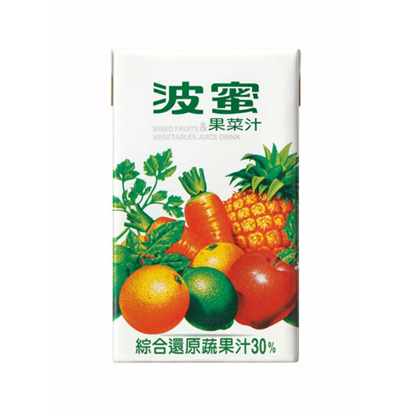 波蜜 果菜汁(鋁箔包) 250ml (6入)/組【康鄰超市】
