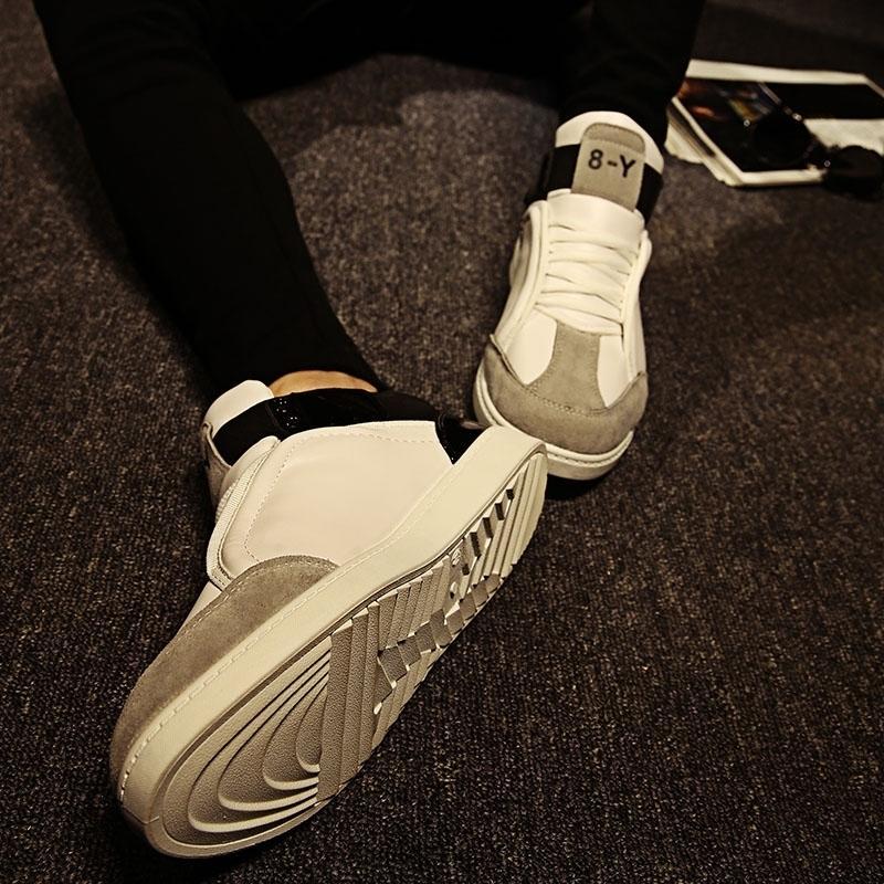 低幫男鞋學生透氣繫帶潮流時尚板鞋學院風白色帆布鞋夏季男士休閑