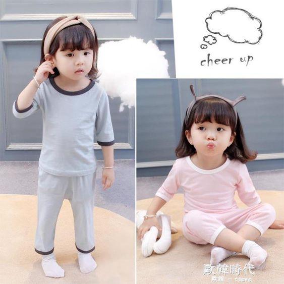女童夏兒童睡衣3歲夏季公主女寶寶空調家居服套裝