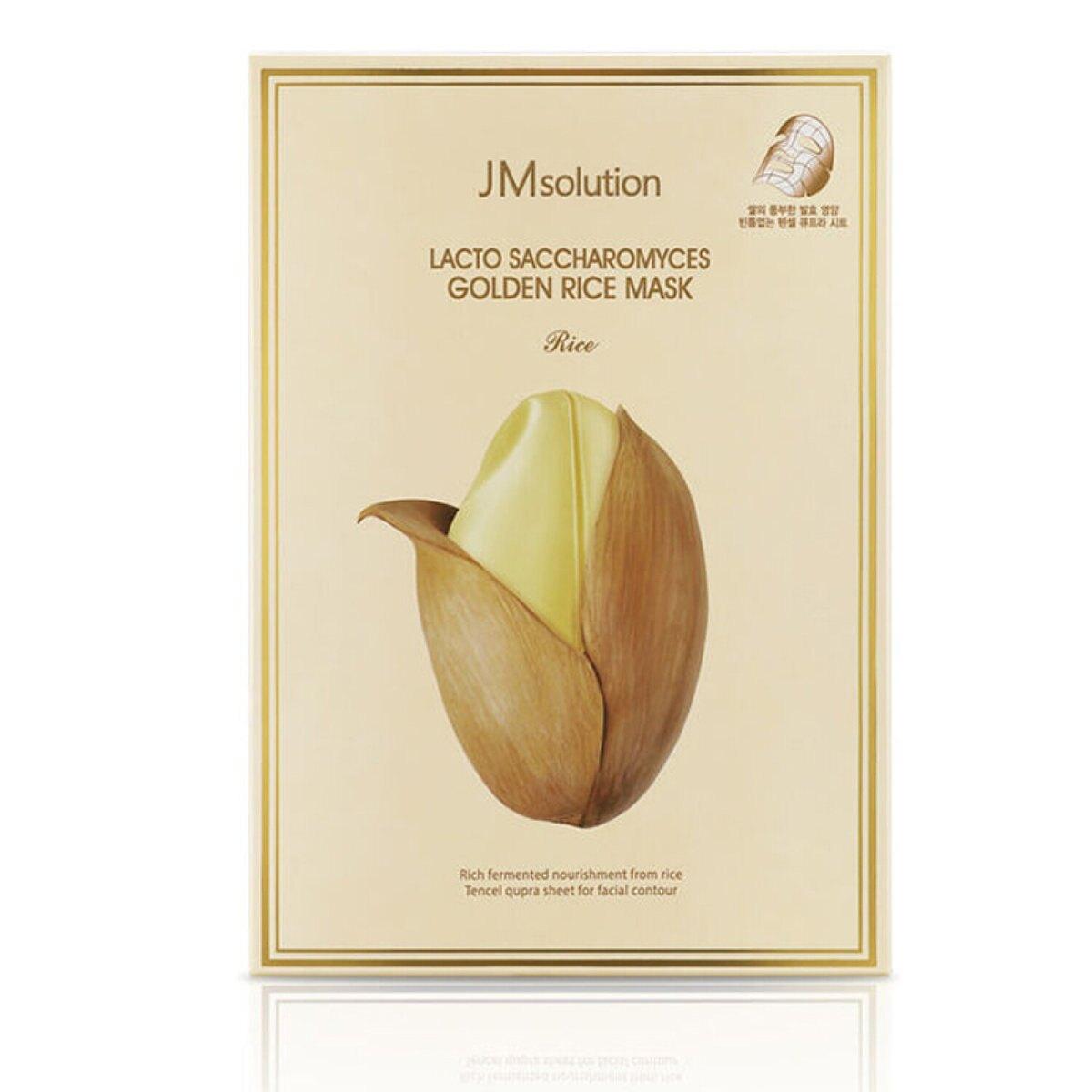 韓國 JM Solution 黃金大米酵母乳面膜 10片入 熱銷面膜 天絲面膜 超服貼 大米面膜   【SP嚴選家】