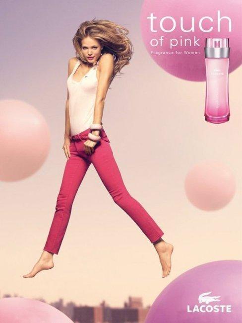 LACOSTE Touch of Pink 粉紅觸感 女性淡香水 90ML◐香水綁馬尾◐