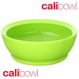 【美國 CaliBowl】專利防漏防滑幼兒學習碗(單入無蓋) 12oz -綠色【紫貝殼】