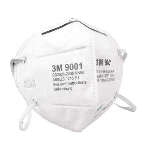 3M-9001口罩 耳掛式 一盒50個 防霧霾 防粉塵透氣 靜電濾棉 防灰塵 防煙霧 防菸防花粉 機車族 50片/盒
