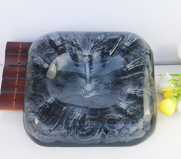 九龍戲珠煙灰缸公司賓館裝飾擺設品高檔商務禮品 水晶煙灰缸擺件