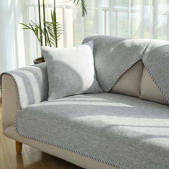 棉麻沙發墊四季通用簡約現代北歐式坐墊布藝防滑沙發巾