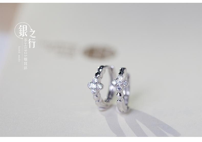 S925銀耳圈耳扣女氣質日個性潮人簡約時尚百搭耳環飾品