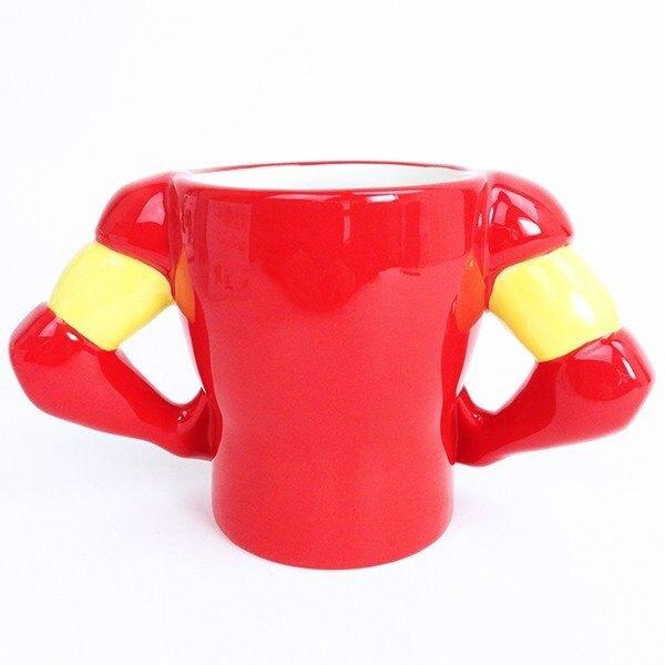 Marvel 復仇者聯盟 造型馬克杯340ml-鋼鐵人 IronMan ,水杯/馬克杯/杯瓶/茶具/生活用品/玻璃杯/不鏽鋼杯,X射線【C247876】