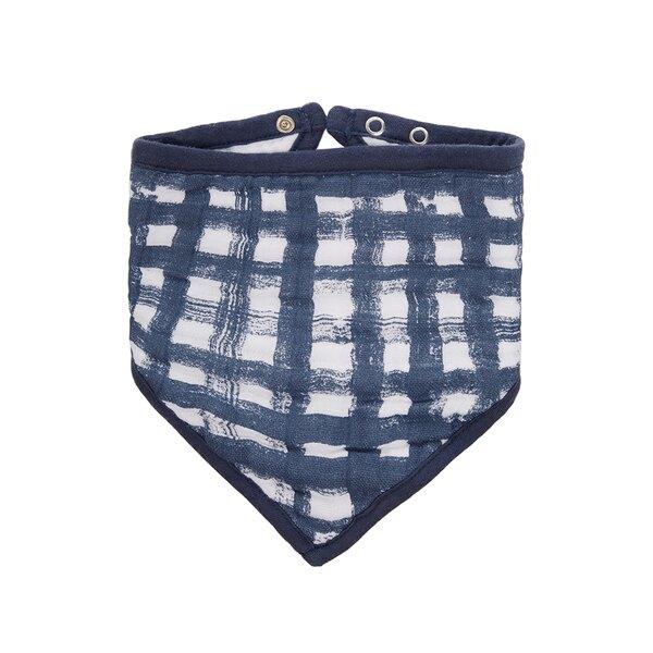 【淘氣寶寶】美國 Aden + Anais 經典三角巾-藍色小狗/格子 ANA7182★英國喬治小王子御用包巾品牌