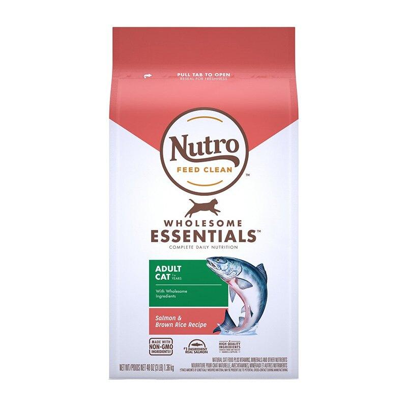 《Nutro美士》全護營養系列-特級成貓配方(鮭魚+糙米)-5LB / 貓飼料