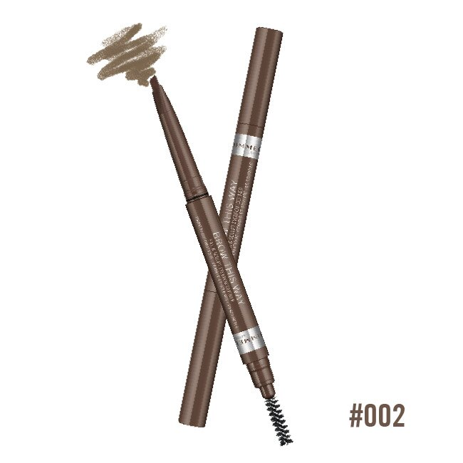 Rimmel 倫敦芮魅就是有型旋轉雙頭眉筆 002 焦糖棕 0.2g