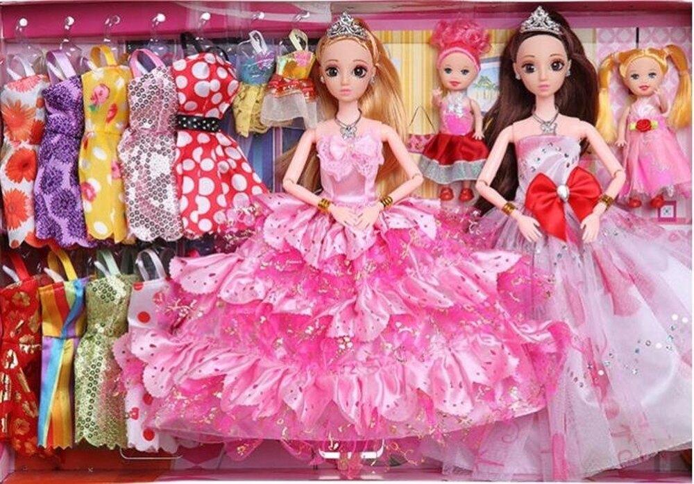 會說話換裝芭芘洋娃娃套裝大禮盒女孩公主玩具兒童別墅城堡衣服布 雙12購物節