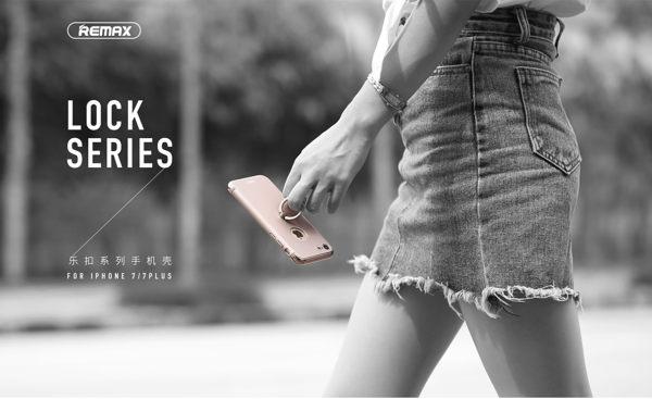 REMAX 指環樂扣系列 iPhone8/8 Plus /  iPhone7/7 Plus 保護殼 電鍍工藝指環扣支架設計 [正版公司貨]