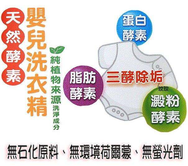 Nac Nac 天然酵素嬰兒洗衣精「補充包1000ml *3包」酵素配方 - 有效分解污垢
