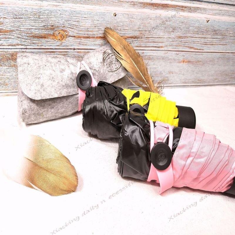 迷你傘 超輕量UV黑膠 防曬傘陽傘抗uv傘晴雨傘黑膠傘【小冰生活百貨】