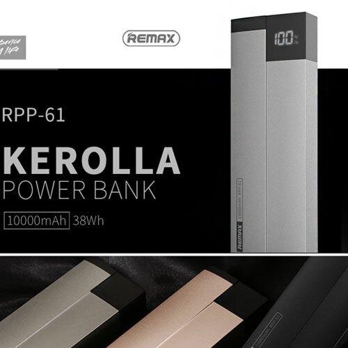 REMAX 科羅拉 10000mAh移動電源 液晶顯示屏 小尺寸 ABS防火外殼 鎂鋁合金 [正版公司貨]