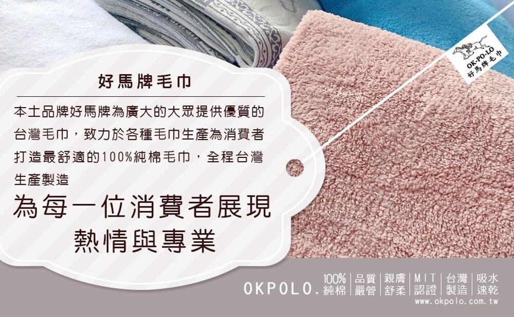 毛巾 浴巾 台灣製造純白厚實毛巾12入組【OKPOLO】