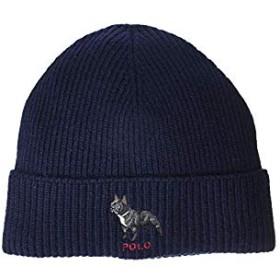 [Polo Ralph Lauren(ポロラルフローレン)] メンズ帽子、ハット等 French Bulldog Cuff Hat Navy One Size [並行輸入品]