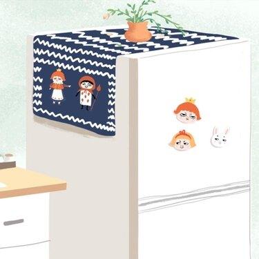 洗衣機防塵罩 簡約布藝滾筒洗衣機防塵罩家用單雙開門冰箱蓋布蓋巾 領券下定更優惠