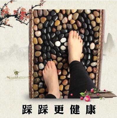 純天然雨花石鵝卵石足底按摩家用腳部指壓板yhs2999【123休閒館】