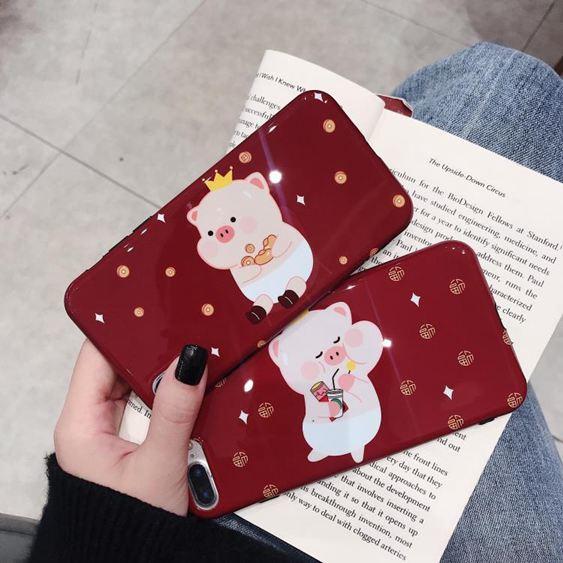新年款卡通小豬三星手機s9手機殼note8防摔軟殼s8p可愛男女同款 極客玩家