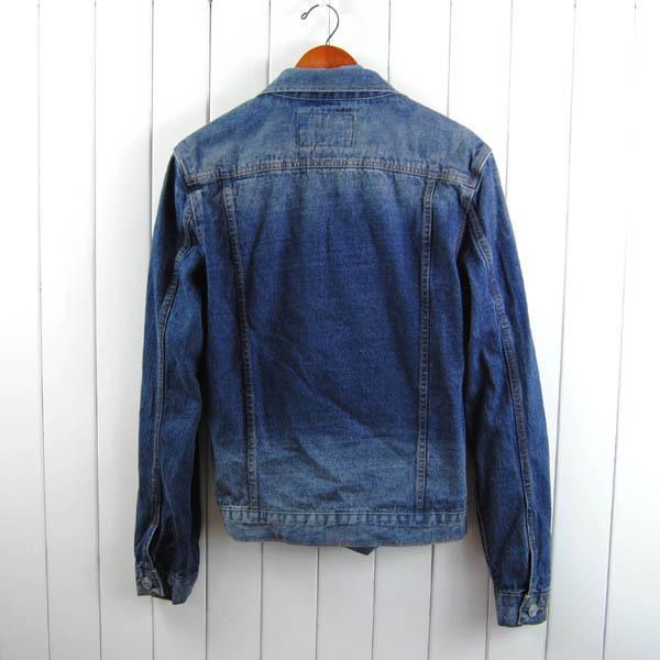 男士基本款時尚短款牛仔衣全棉洗水扎實休閑外套夾克1入