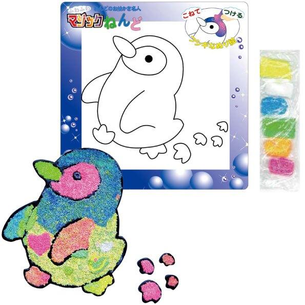 【日本發掘名人】創意拼貼畫-不思議黏土(企鵝)