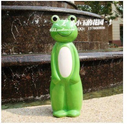 【綠豆蛙-馬桶刷架子】創意工藝品擺件陶瓷