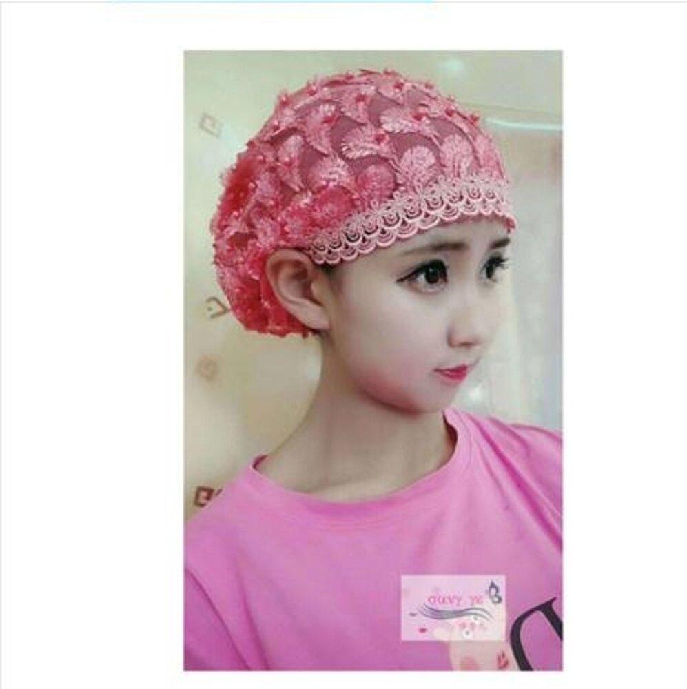 頭巾帽子釘珠繡花套頭簡便帽款夏季薄款紗帽回族蓋 618年中鉅惠