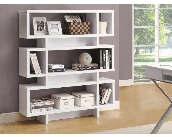 -書櫃【YUDA】康迪仕 白色 浮雕木紋 造型 書架 J9S 574-3