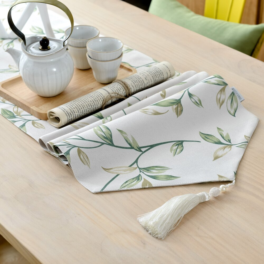 ✤宜家✤時尚可愛空間餐桌布 茶几布 隔熱墊 鍋墊 杯墊 餐桌巾桌旗365 (36*160cm)