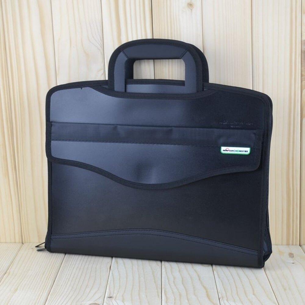 商務手提文件袋多層加厚拉錬袋帆布文件包辦公男女士會議袋檔案袋 雙12購物節