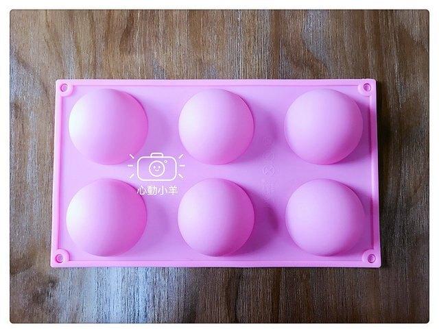 心動小羊^^耐高溫6孔半圓模具DIY手工皂模具韓國矽膠蠟燭果凍蛋糕