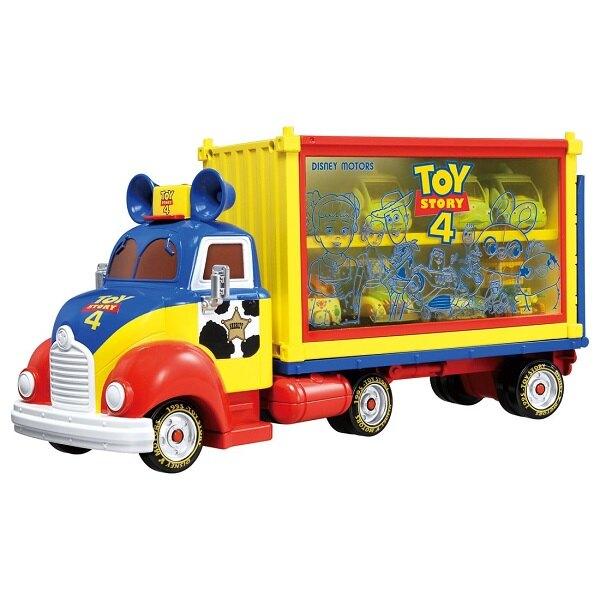 【Fun心玩】DS13362 麗嬰 日本 多美 Disney 迪士尼 TOY STORY 4 玩具總動員收納車 貨櫃車
