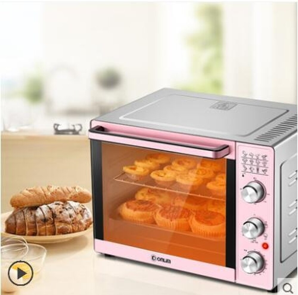 烤箱家用烘焙多功能全自動33升大容量電烤箱LX 220V 清涼一夏特價