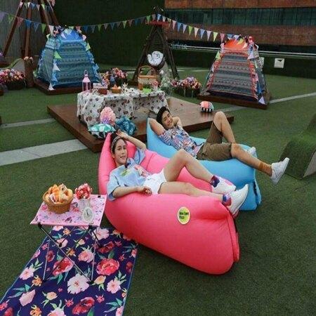 戶外便攜式摺疊充氣空氣懶人防水水上沙發床懶人睡袋午休床 樂活生活館 母親節禮物