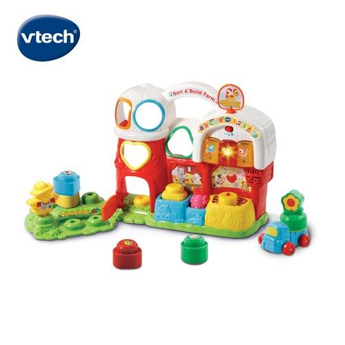 【玩具專區滿$1500送poli驅蚊陀螺手環(1入)】Vtech 音樂積木學習農場