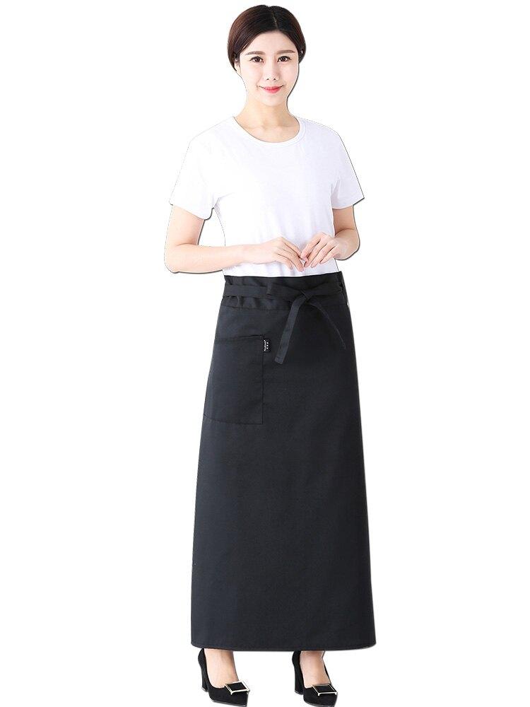 圍裙師服務員黑半身餐廳化妝師工作服韓版時尚圍腰