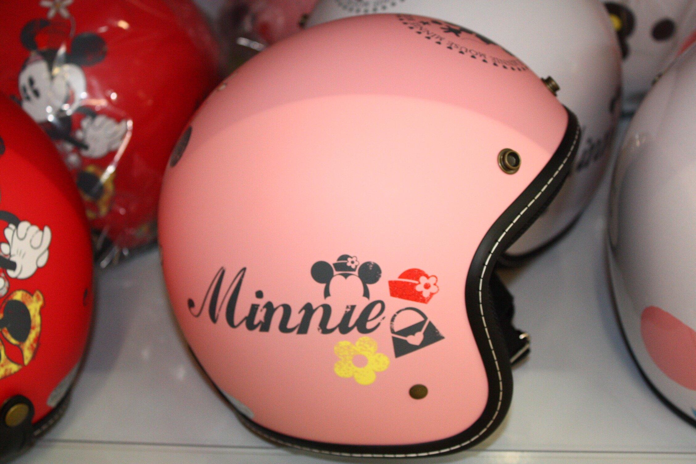 大賀屋 全罩式 安全帽 米妮 三色 抗UV 鏡片 全罩安全帽 機車安全帽 機車 迪士尼 disney T0001 564