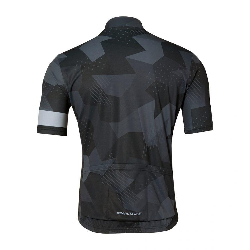 【7號公園自行車】PEARL IZUMI 621-B-44 男性基本合身款短袖車衣(方格黑)