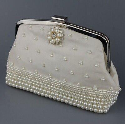 ☆珍珠晚宴包 鏈條包-時尚氣質宴會晚禮服女手拿包 71as22【獨家進口】【米蘭精品】